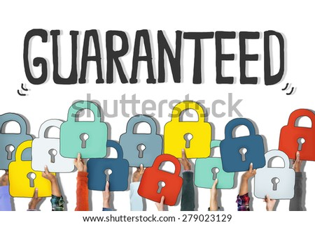 Group of Hands Holding Padlock Symbols - stock photo
