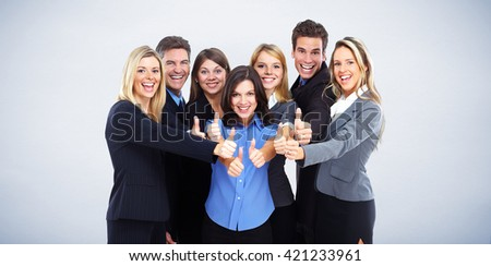 Group of happy business people .