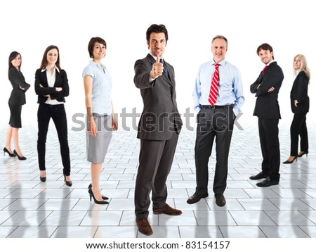 Group of happy business people