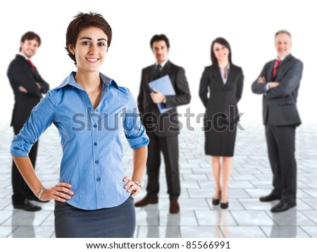 Group of happy business people - stock photo