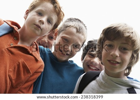 Group of Happy Friends Outside - stock photo