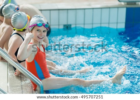 Kids Public Swimming Pool kids swimming indoor pool stock images, royalty-free images