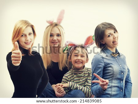 Group of happy people - stock photo