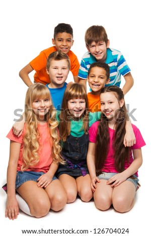 Group 7 Happy Smiling Kids Together Stock Photo 126704024 ...