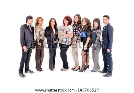 Group of hispanic business people. Business team. - stock photo