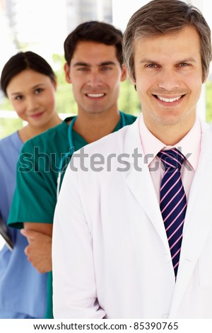 Group of hospital doctors - stock photo