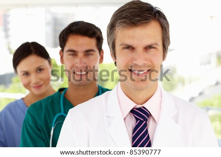 Group of hospital doctors