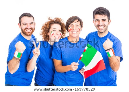 Group of Italian Supporters