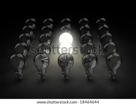 group of light bulbs - stock photo