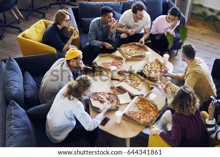 Coworkers lunch stock images royalty free images for Group lunch