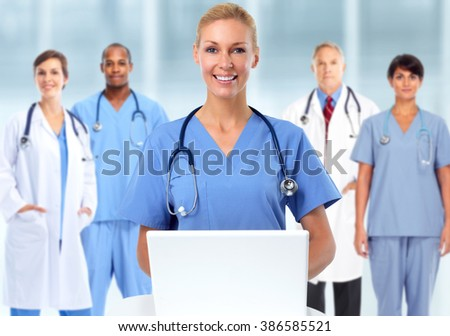 Group of medical doctors. - stock photo