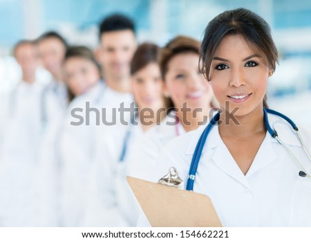 Group of medical staff at the hospital  - stock photo