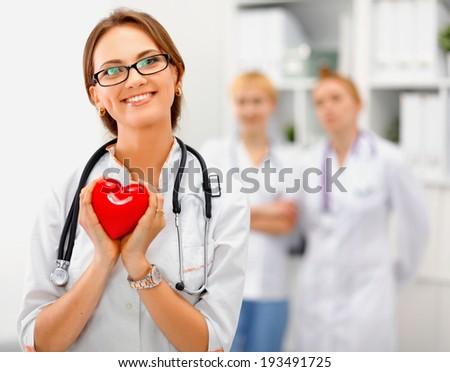 group of medical workers portrait - stock photo