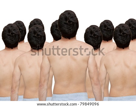 Group of men - stock photo