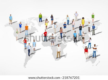 Group of Multi Ethnic Diverse People of the World - stock photo