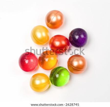 Group of multicolored bath soap balls - stock photo