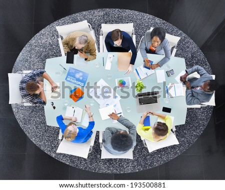Group of Multiethnic Business People in a Meeting - stock photo