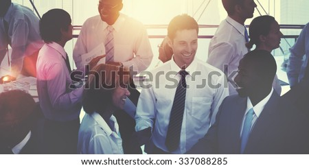 Group of Multiethnic Diverse Busy Business People Concept