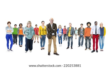 Group of Multiethnic Diverse Colorful People - stock photo