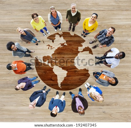 Group of Multiethnic Diverse World People - stock photo