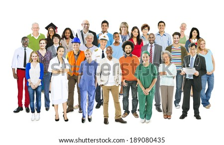 Group of Multiethnic Mixed Occupations People - stock photo