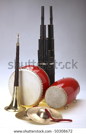 Group of musical instrument,closeup