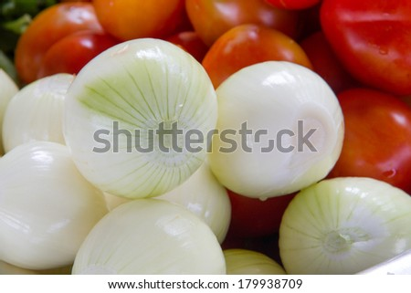 group of onions
