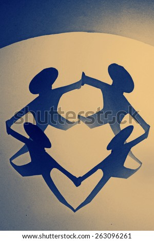Group of Paper Men - stock photo