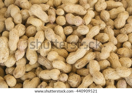 Group of peanuts in shells, texture