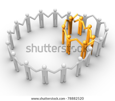 Group of People. - stock photo