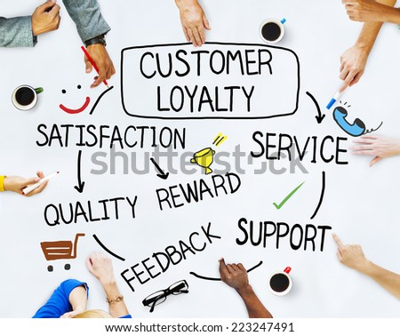 Group of People and Customer Loyalty Concepts - stock photo
