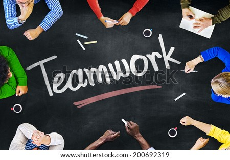 Group of People and Teamwork Concepts - stock photo