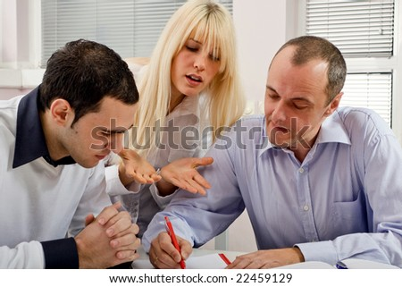 group of people at business training - stock photo