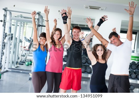 Group of People at Gym,Italy