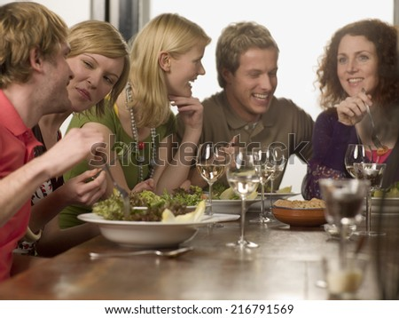 Group of people at the dining table