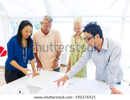 Group of people at the meeting - stock photo