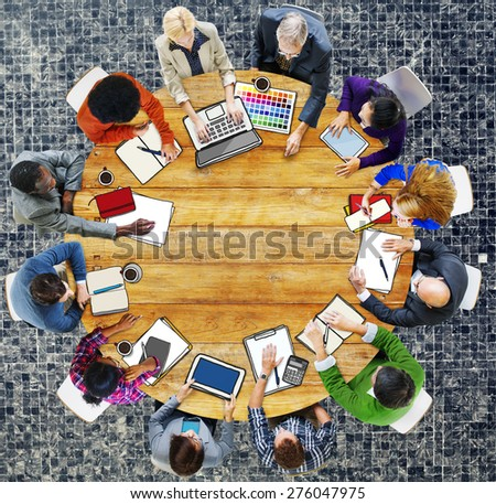 Group of People Business Meeting Brainstorming Concept - stock photo