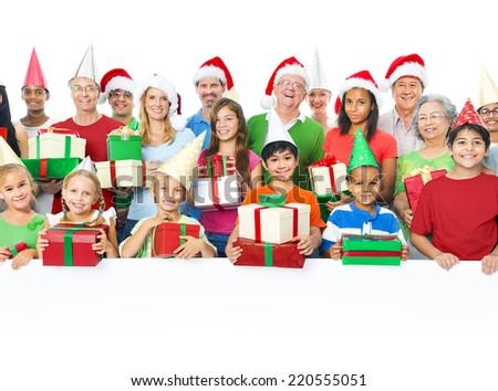Group of People Celebrating - stock photo