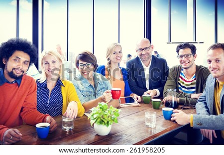 Group of People Cheerful Team Study Group Diversity Concept - stock photo