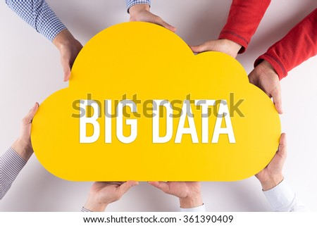 Group of People Cloud Technology BIG DATA Concept - stock photo