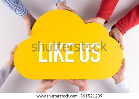 Group of People Cloud Technology LIKE US Concept - stock photo