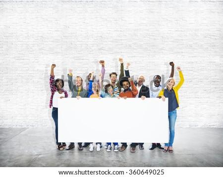 Group of People Community Celebration Success Concept - stock photo
