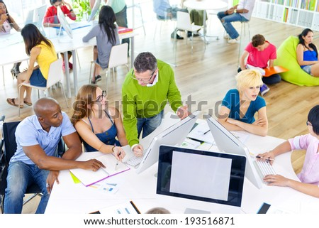 Group of People Discussing Business Issues - stock photo
