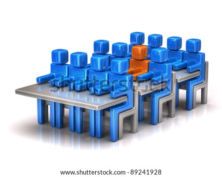 Group of people in classroom - stock photo