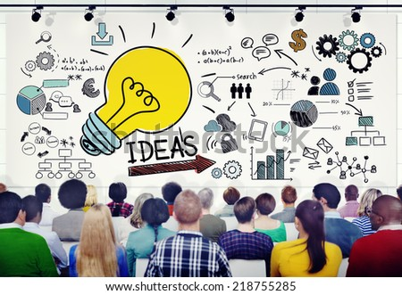 Group of People in Seminar with Ideas Concept  - stock photo