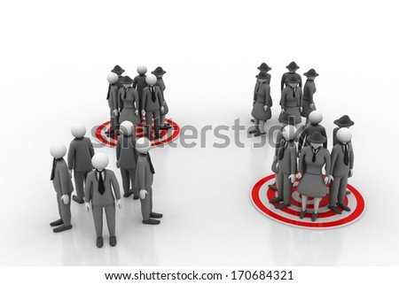 group of people is targeted for marketing