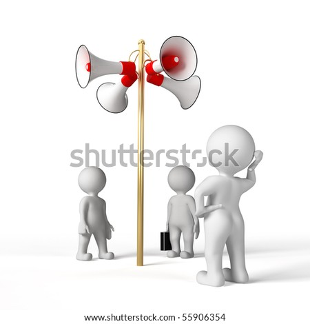 group of people listens to the message of the speaker - stock photo