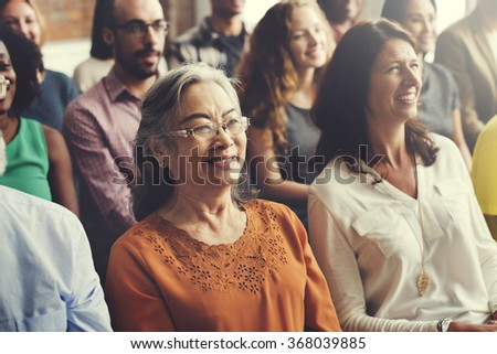Group of People Meeting Seminar Cheerful Concept - stock photo