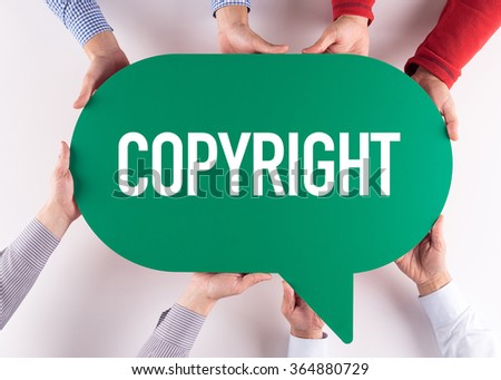 Group of People Message Talking Communication COPYRIGHT Concept - stock photo