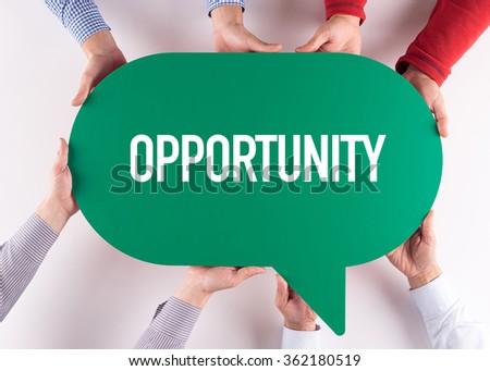 Group of People Message Talking Communication OPPORTUNITY Concept - stock photo